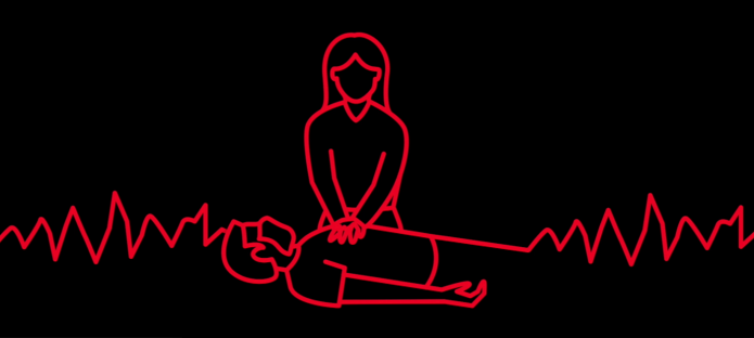 Graphic of someone performing CPR